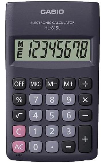 Calculadora De Bolso Casio Hl-815l-bk-s4-dp