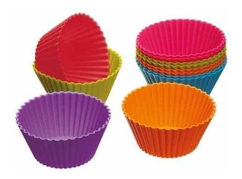 Molde De Silicona Para Cupcake X12
