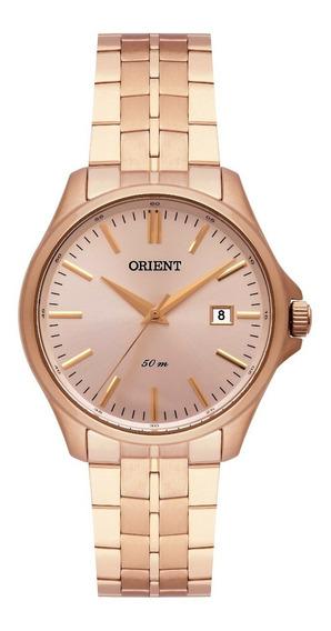 Relógio Orient Feminino Frss1034 R1rx Rose Analogico Oferta