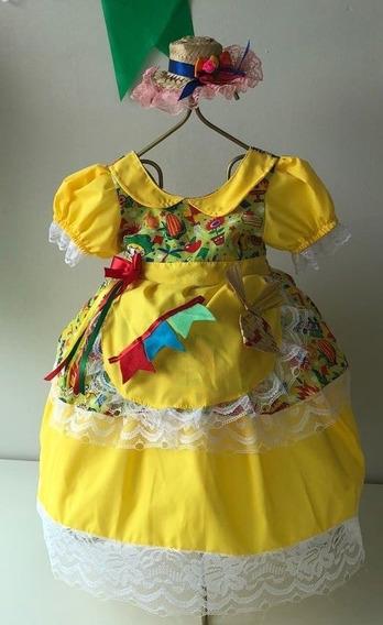 Vestido Caipira Amarelo