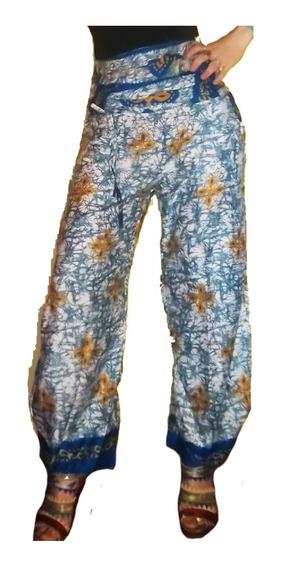Pantalón Babucha Hindú, Seda Rayón De Vestir Importado India