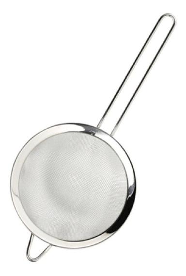 Colador De Acero Doble Malla Extrafina 20 Cm