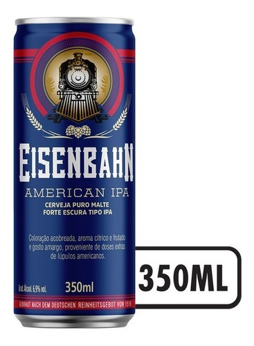 Cerv Eisen Ameripa 350 Ml Pack 6 Unidades
