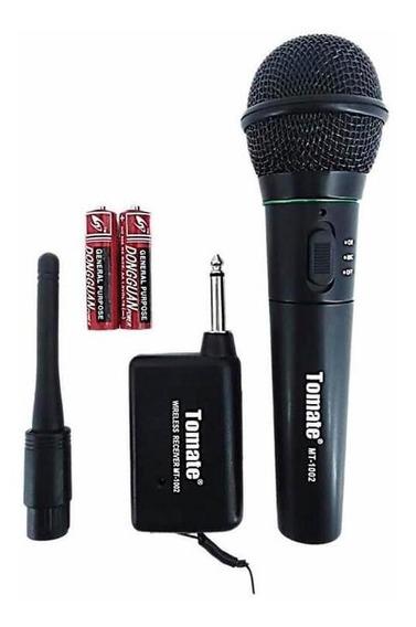 Microfone Profissional Sem Fio 113.00 Mhz Tomate - Mt-1002