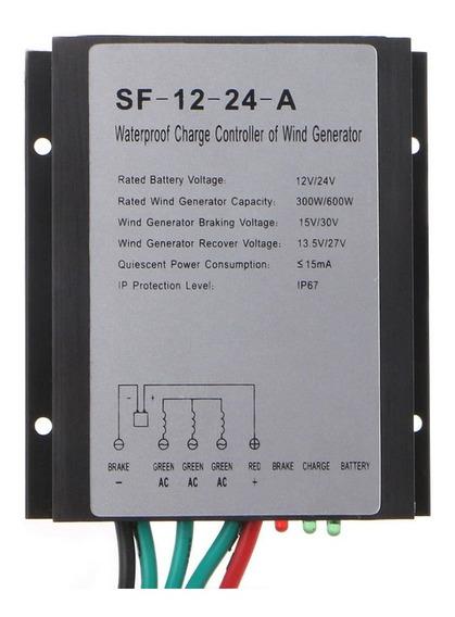 Controlador De Carga Eólico 12/24v 30a 300w/600w Sf-12-24-a