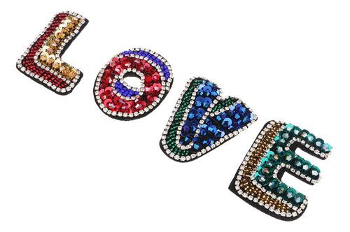 Imagen 1 de 4 de 4 Parches De Letras De Amor Diy Lentejuelas Costura Suminist