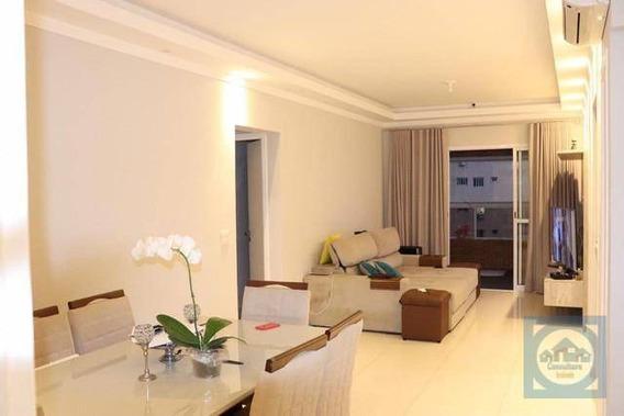Flat Com 2 Dormitórios Para Alugar, 86 M² Por R$ 4.500,00/mês - Boqueirão - Santos/sp - Fl0051