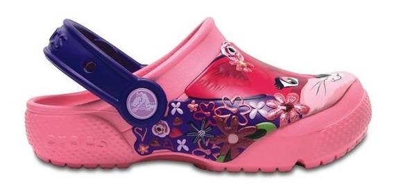 Zapato Crocs Niña Fun Lab Gato K Rosa