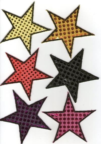 Aplique Estrella De Tela De Lentejuelas,para Murgas,disfraz