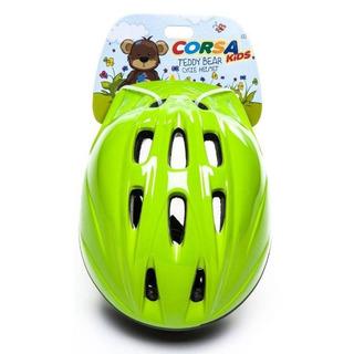 Capacete Bicicleta Infantil Corsa Kids Tamanho M Verde