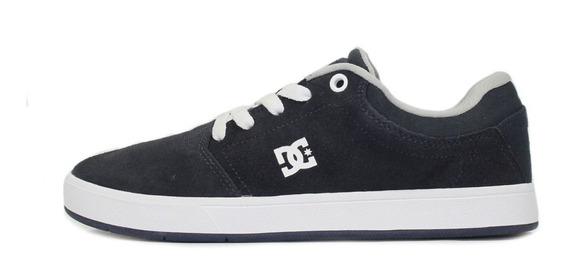 Tênis Skate Dc Shoes Crisis La Azul Marinho/cinza/branco