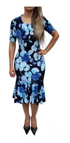 Vestido Evangélico Feminino Babado Midi Barato Promoção Midi