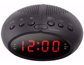 Radio Relogio Digital Fm Despertador Duplo Alarme Bivolt