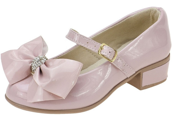 Sapatilha Feminina Infantil Salto Sapato Boneca Atacado Moda