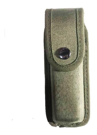 Porta Cargador Simple Verde Oliva Premium Termoformado