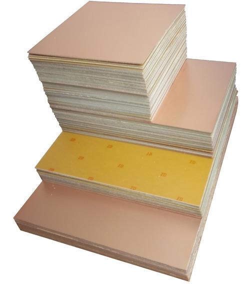 5 Placa De Fenolite Dupla Face 10x10cm