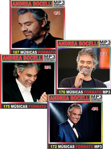 Andrea Bocelli Disocgrafia Completa 42 Cd Com 711 Músicas