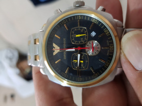 Relógio Empório Armani Plaquê De Ouro 100% Original