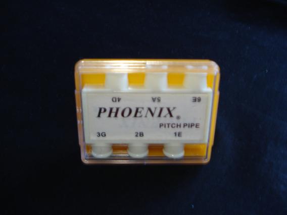 Diapasão De Sopro Phoenix 6 Notas Para Violão P-6
