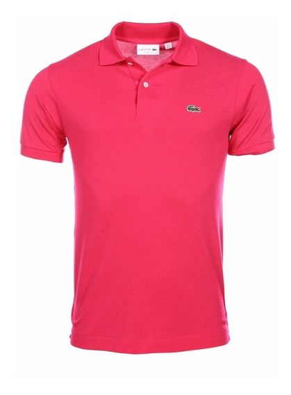 Polo Lacoste L1212 Classic Fit Color Fuchsia Original