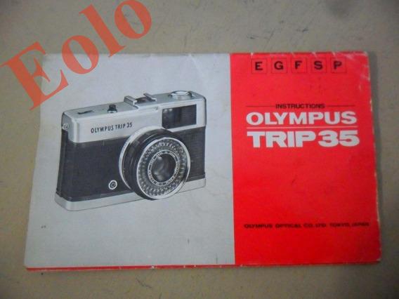 Olympus Trip 35 * Vendo Só O Manual Original * Raro #