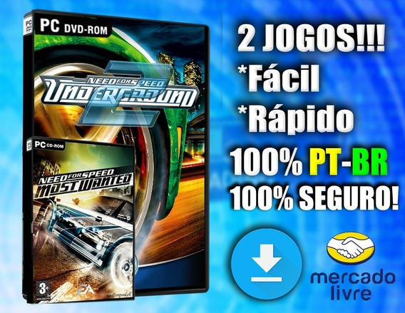 Need For Speed Underground 2 + Most Wanted Pc Midia Digital