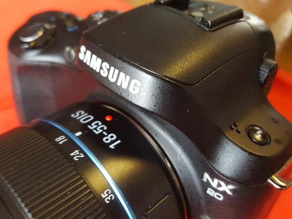 Câmera Samsung Nx20 Com Lente 18-55mm