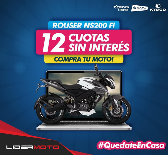 Bajaj Rouser Ns 200 Ns Fi Abs Lider San Justo Cuotas S/ Int