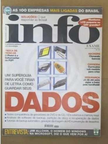 Revista Info Exame 205 - Abril 2003