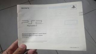 Manual Original Playstation 2 Slim Port/esp Frete Grátis