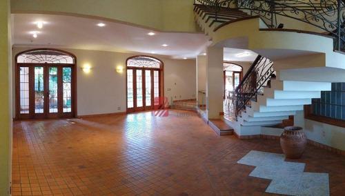 Casa Com 4 Dormitórios Para Alugar, 530 M² Por R$ 10.000,00/mês - Jardim Aclimação - São José Do Rio Preto/sp - Ca2407