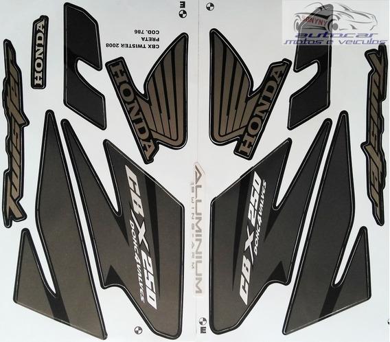 Kit Jogo Faixa Adesiva Cbx Twister 250 Preta 2008