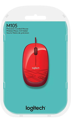Imagem 1 de 4 de Mouse Usb Logitech M105 - 2897