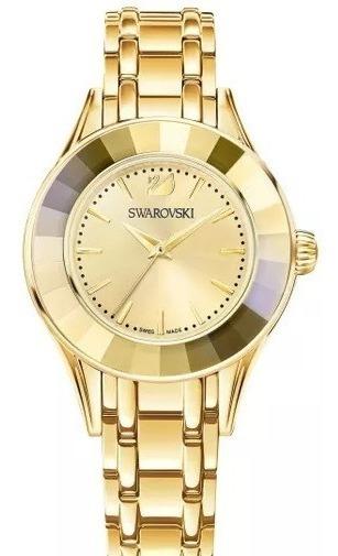 Relógio Relógio Alegria - Gold Tone Swarovski 03
