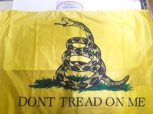 Imagen 1 de 2 de Bandera Gadsden Libertaria Don't Tread On Me 90x150cm
