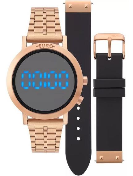 Relógio Euro Feminino Fashion Fit Rosé Eubj3407ac/t4p Com Nf
