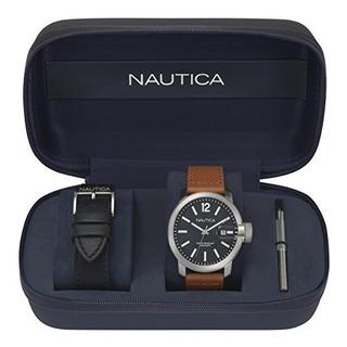 Nautica Mens Syd Sydney Reloj Deportivo De Cuarzo De Acero