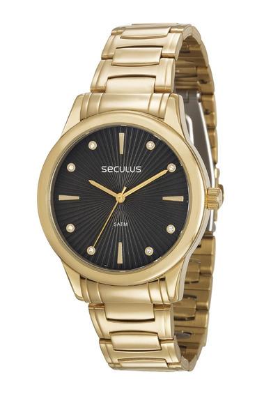 Relógio Feminino Seculus 23606lpsvds1 Promoção Dia Dos Pais