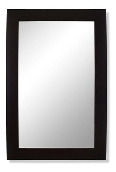 Espejo Baño Reflejar Home Wengue Marco Pino Rectangular