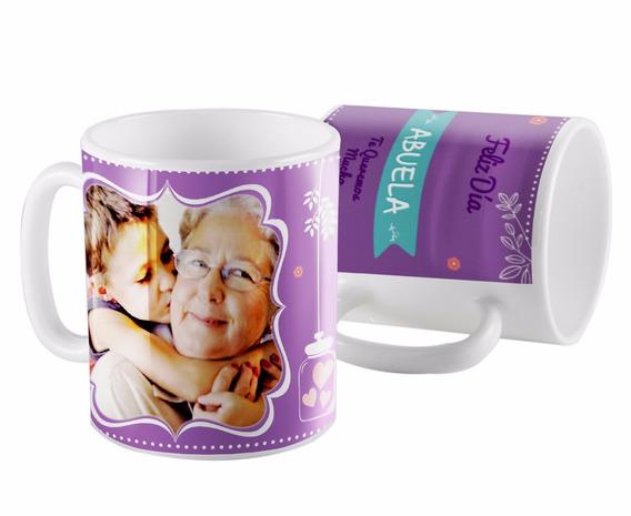 Taza Ceramica Abuela Con Foto Personalizada