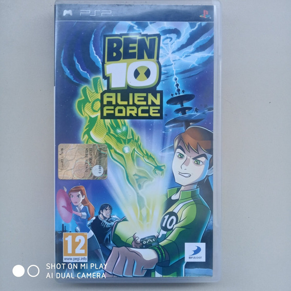 Jogo Ben 10 Alien Force - Psp Seminovo Midia Fisica Original