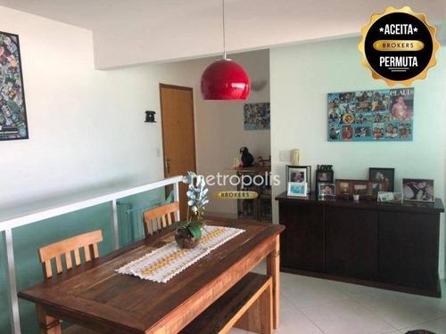 Cobertura Com 2 Dormitórios À Venda, 120 M² Por R$ 650.000,00 - Nova Gerti - São Caetano Do Sul/sp - Co0443