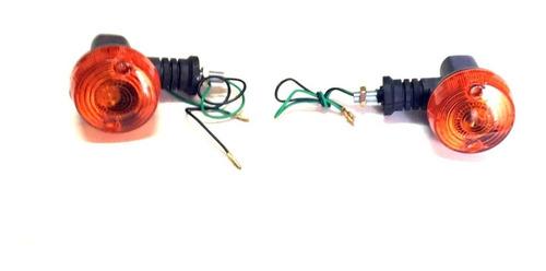Imagen 1 de 6 de Kit 2 Faros Giros Guiños Kmx 125 Klr 250 Corto Solomototeam