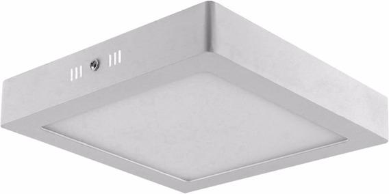 Painel Plafon 18w Led Quadrado Teto Sobrepor Branco