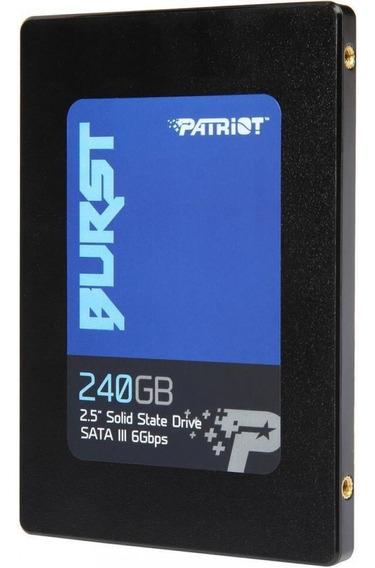 Ssd Patriot Burst 240gb - Original, Lacrado E Novo