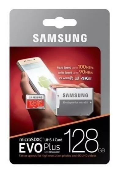 Samsung Evo Mais Micro Sdxc Ush-1 U3 128 Gb Classe10 100 S/
