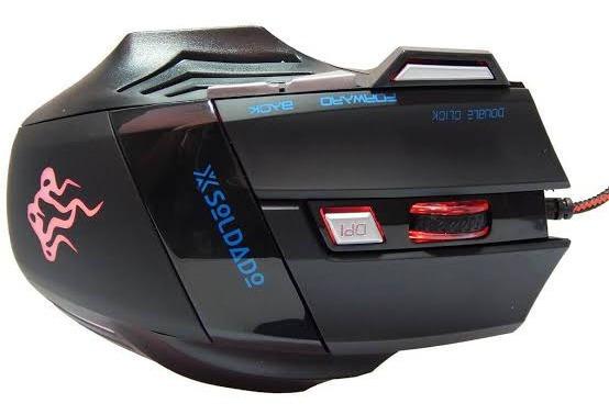 Mouse Gamer Gm-700 7 Cores Led 3000dpi Cabo Revesti 7 Botões