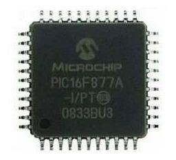 Microcontrolador Pic16f877a I/pt Microchip Qfp44