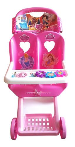 Carrinho De Boneca Duplo Princesas Disney Líder 2391