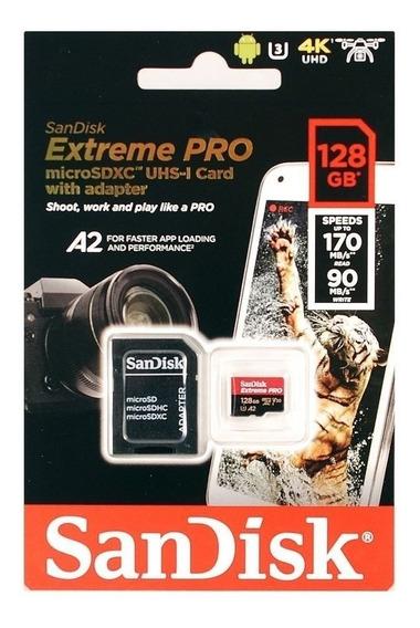 Cartão Memória Micro Sdhc 128gb Sandisk Extreme Pro